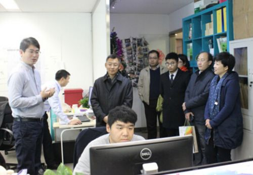 北京市委统战部、海淀区知识产权局领导视察思博网